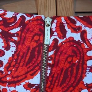 Michael Kors Dresses - Michael Kors Red Paisley Fit and Flare Dress